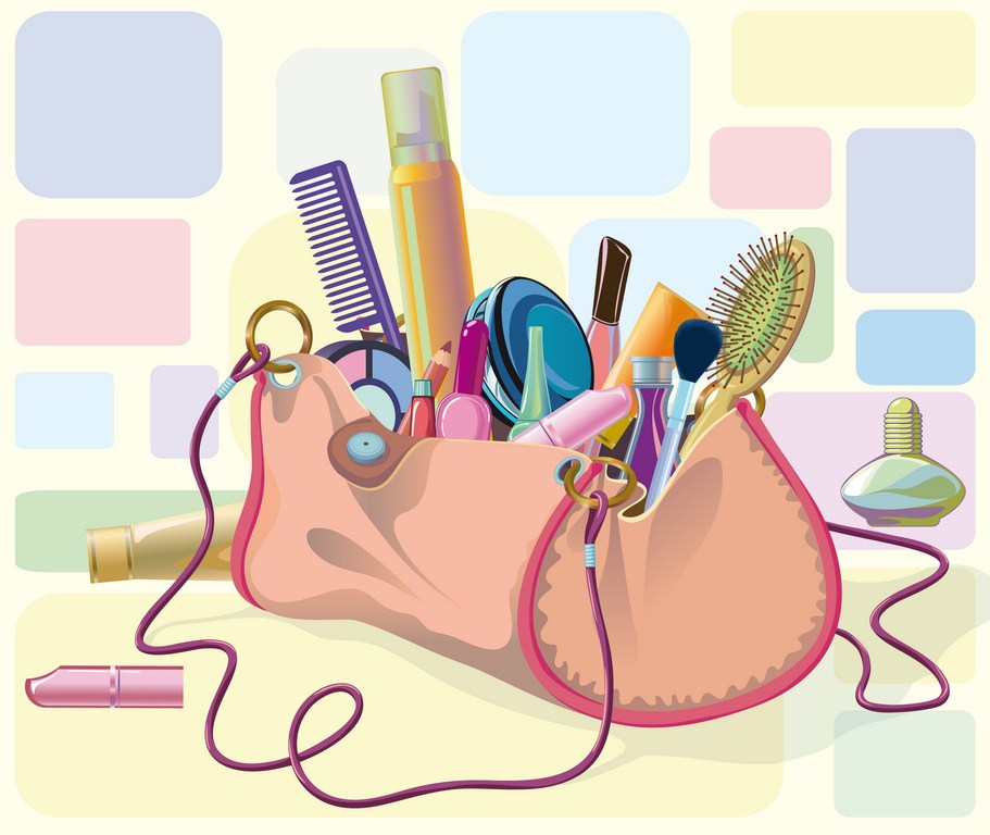 Trousse maquillage beauté illustration