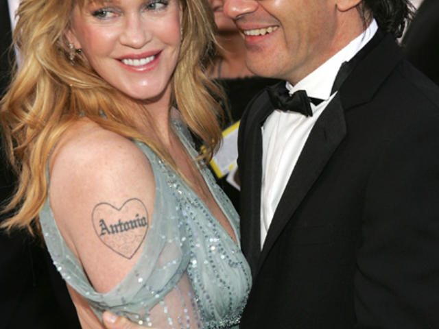 tatouage melanie griffith bras coeur